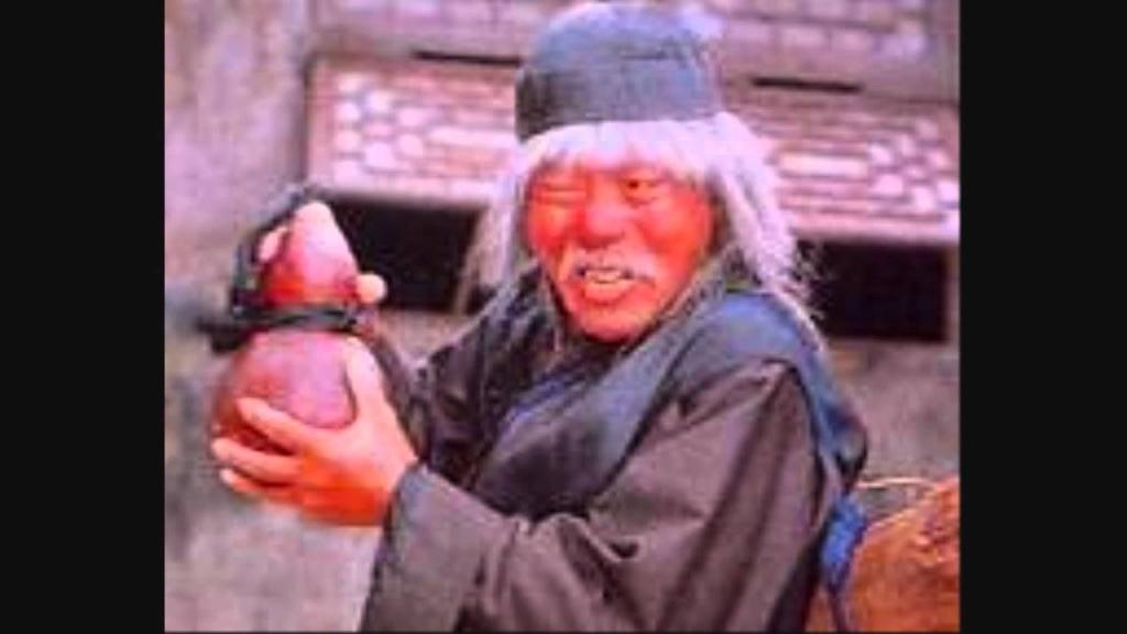 Japansk kriger med kombucha-flaske